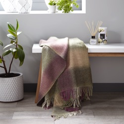 Kilnsey Wool Throw - Fern