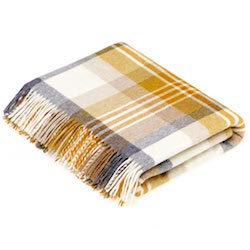 Melbourne Wool Throw - Gold