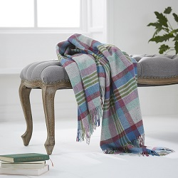 Melbourne Wool Throw - Thistle<BR>