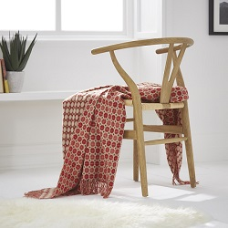 Milan Wool Throw - Terracotta