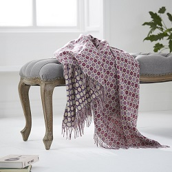 Milan Wool Throw -Thistle