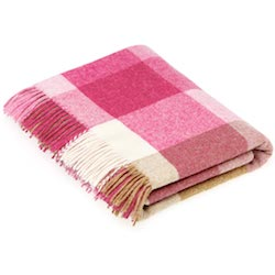 Rome Wool Throw - Pink/Natural
