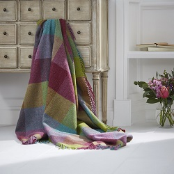 Rome Wool Throw - Thistle