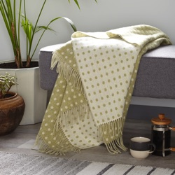 Spot Merino Wool Throw - Sage