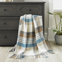 Melbourne Merino Wool Throw - Aqua