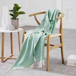 Parquet Eucalyptus Merino Wool Throw