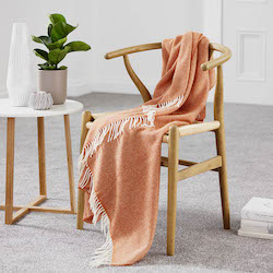 Parquet Saffron Merino Wool Throw