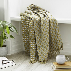 Rectangle Merino Wool Throw - Gold
