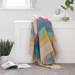 Harley Stripe Tutti Frutti Shetland Wool Throw