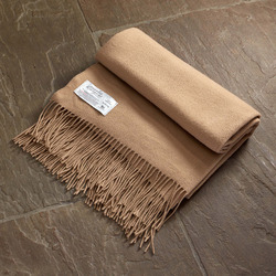 Twill & Granite Throw-Camel