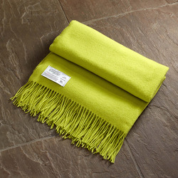 Twill & Granite Throw-Lime