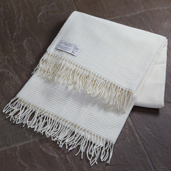 Twill & Granite Throw-Natural