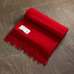 Twill & Granite Throw-Scarlet