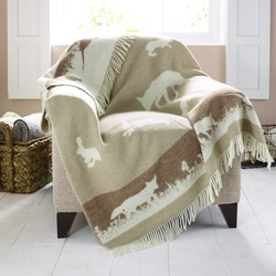 Wool Blanket - Beige Rabbit Blanket