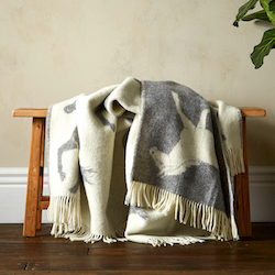 Wool Blanket - Grey Horse Blanket
