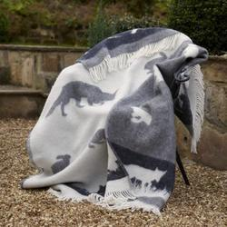 Wool Blanket - Grey Rabbit Blanket