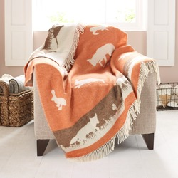Wool Blanket - Orange Rabbit Blanket