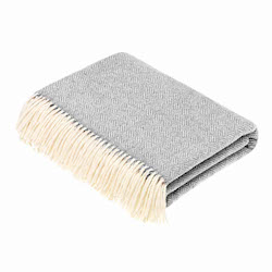 Woolroom Parquet Merino Throw -Grey