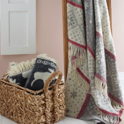 Grey Snow Blanket Wool Throw