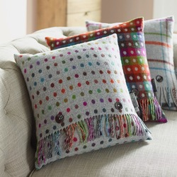 Cushion-Rainbow Spot Grey Cushion