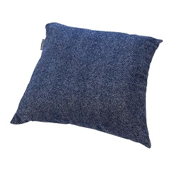 Woolroom Lilly Herringbone Cushion - Blue