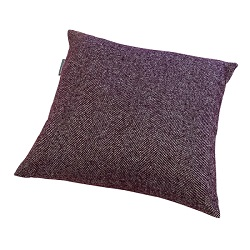Woolroom Lilly Herringbone Cushion - Plum