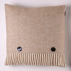 Cushion-Natural Herringbone Cushion