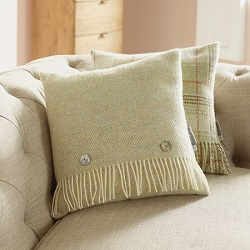 Cushion-Sage Herringbone Cushion