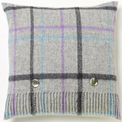 Cushion - Grey Pastel Windowpane Cushion