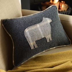 Wool Cushion - Grey Sheep Cushion