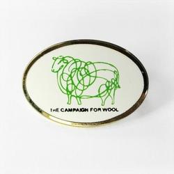 Oval Campaign for Wool Lapel Pin