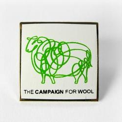 Square Campaign for Wool Lapel Pin