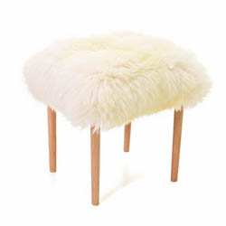 Seren Baa Beauty Stool - Ivory