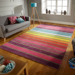 Illusion Brights Wool Rug - Candy Multi