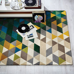 Illusion Brights Wool Rug - Prism Green Multi