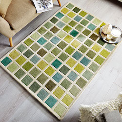 Illusion Brights Wool Rug - Tonal Campari
