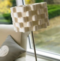 Lampshade - White Felt Loop