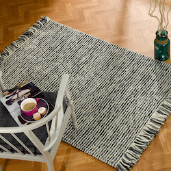 Retreat Flatweave Wool Rug - Maya Charcoal