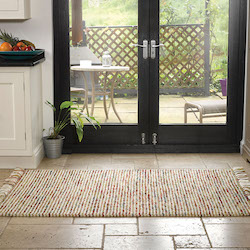 Retreat Flatweave Wool Rug - Maya Terracotta Green