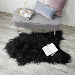 Icelandic Sheepskin Longwool Black