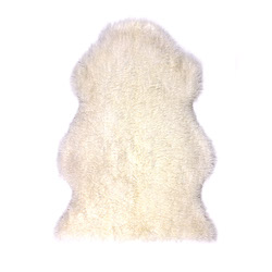 Sheepskin Longwool Curly Off White
