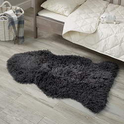 Sheepskin Longwool Curly Steel
