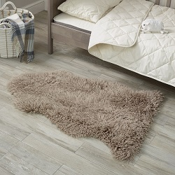 Sheepskin Longwool Curly Taupe