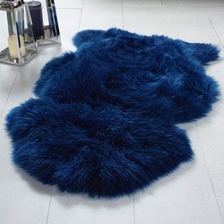 Single Sheepskin Cobalt Rug Blue Rug