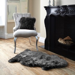 Single Sheepskin Grey Rug
