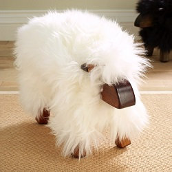 Sheepskin Stool Sheep White