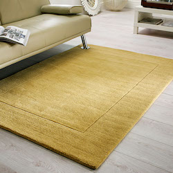 Tuscany Plains Wool Rug Sienna Ochre