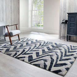 V and A Inspired Wool Rug - Jazz