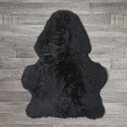Single British Sheepskin - Black - Large