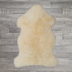 Single British Sheepskin - Buttercream - Large